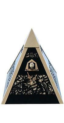 Pyramid Table Cuckoo Clock Unique Design Black Quality German Made New
