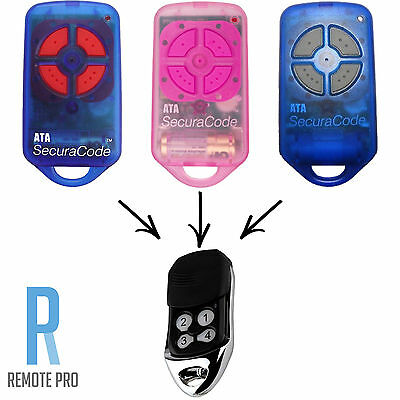ATA garage/gate door remote control PTX-4 replacement Securacode PTX4