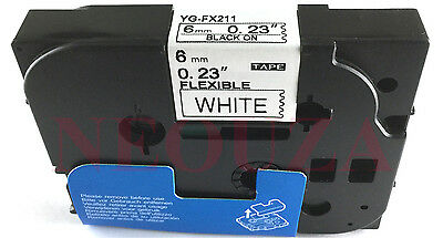 Black on White Flexible Label Tape Compatible fo Brother Tz TZe Fx211 TzeFx211