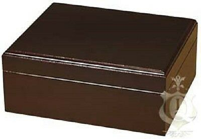 Capri  25-50 Mahogany Cigar Humidor Gold Plated Hinges by Quality Importers