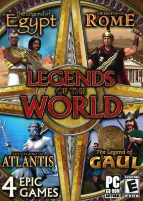 4 NEW PC Legends Of The World - Egypt Rome Atlantis Gaul Puzzle Collection