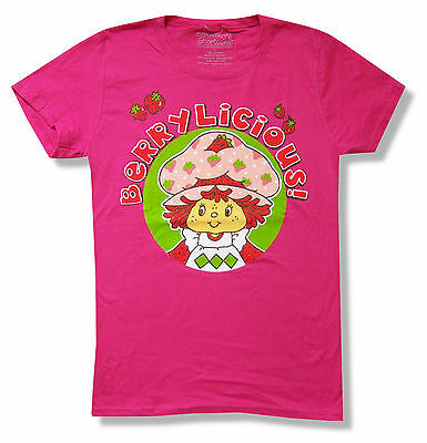 """STRAWBERRY SHORTCAKE /""""SWEET THING/"""" RED COTTON SHORTS NEW OFFICIAL JUNIORS"""
