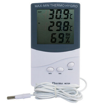 Digital LCD Humidity Hygrometer Temperature Thermometer Indoor Outdoor UK