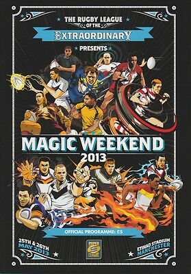 Rugby League Magic Weekend Official Programme 2013