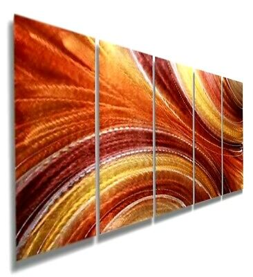 Statements2000 3D Metal Wall Art Panels Abstract Gold Copper Decor by Jon Allen