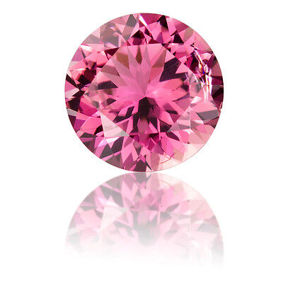 Masterpiece Collection:Round Faceted Genuine (Natural) Pink Tourmaline (2-3.5mm)