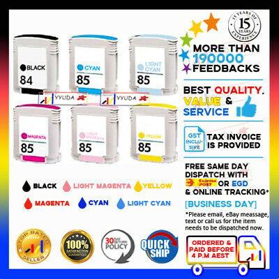 6 Generic Ink Cartridge HP 84 85 for HP Designjet 130 130gp 130nr 30 30n 90 90gp