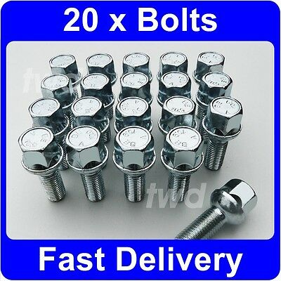 Wheel Bolts Black 12x1.5 Nuts for Mercedes CLK-Class 02-09 16 A209//C209