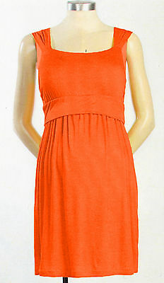 New Japanese Weekend Maternity Nursing Casual Sleeveless Orange Dress M 10 12