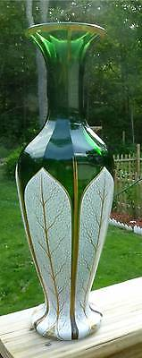 """Monumental 16 1/2"""" French Moser Cut Glass Vase  MUST SEE"""