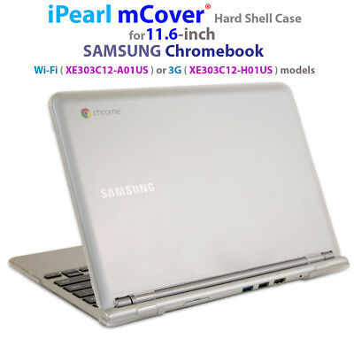 """NEW iPearl mCover® Hard Shell Case for 11.6"""" SAMSUNG XE303C12 Chromebook laptop"""