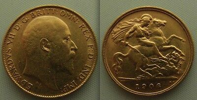 Nice Collectable Gold Half Sovereign 1906 coin - Edward VII ... George / Dragon