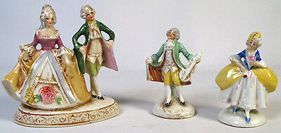 LOT OF 3 VINTAGE pre-WW2 GERMANY GERMAN SMALL PORCELAIN FIGURINE S