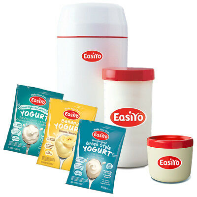 Easiyo Yogurt Maker with Three Sachets and One Lunchtaker