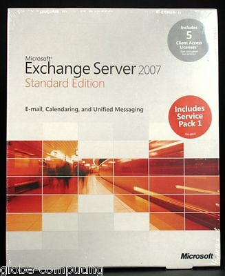 NEW Microsoft Exchange Server 2007 Standard Edition inc 5 CALs 312-03459