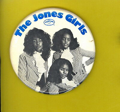 the Jones Girls 1979 large badge button pinback Q  Curtom Records