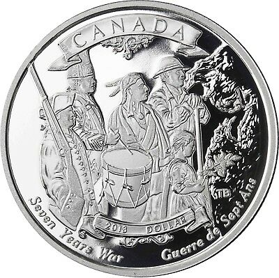 2013 Proof Silver Dollar-  250th Anniversary of the End of the Seven Years War