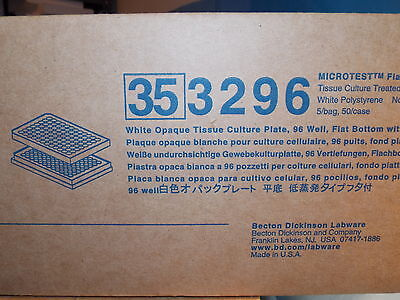 Bd Falcon 353296 Microtest 96 Tissue Culture Plates 96 Well Flat Bottom 50/case