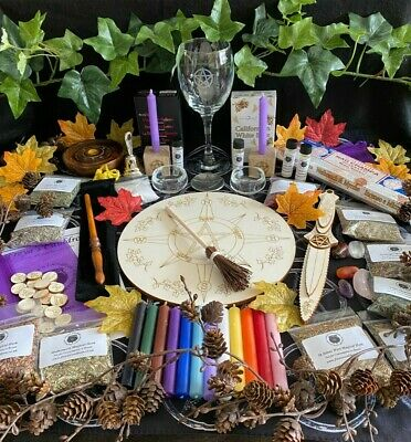 HUGE!!! Witches Starter Kit ~ Altar ~ Spells ~ Cauldron ~ Ritual ~ Wand Crystals