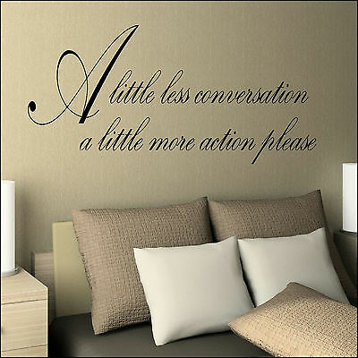Large Elvis Presley Lyrics Little Less Conversation Wall Sticker Decal Transfer