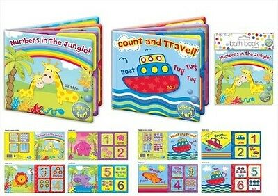 Baby Bath Time Book Plastic Coated Fun Educational Toys Learn To Count Washable