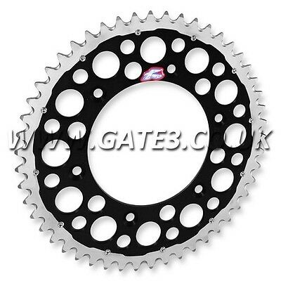 Honda Xr250 Xr 250 R 1998-2005 Renthal Twin Ring 50-Tooth Black Rear Sprocket
