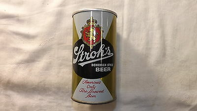 Vintage Strohs Beer Can Steel ah