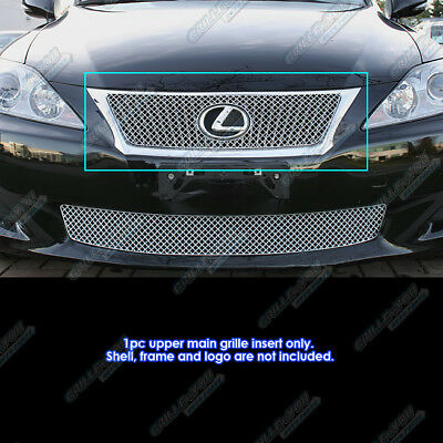 Fits 2009-2011 Lexus IS 250/IS 350 Stainless Steel X Mesh Grille Insert
