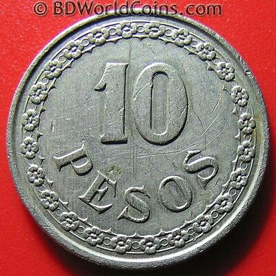 1939 PARAGUAY 10 PESOS SOUTH AMERICAN COLLECTABLE WORLD COIN CU-NI 28.3mm