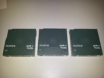 (3) Fujifilm Ultrium LTO4 Data Cartriges - 800GB/1600GB Fuji LTO-4