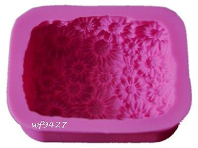 Thick Silicone SUNFLOWER Soap Candle Cake Chocolate Jelly Ice Mold Mould 501
