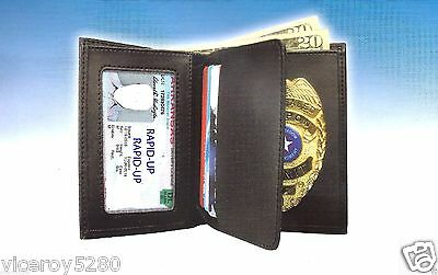 Concealed Carry Weapon Permit Ccw Gold Badge With  Leather Wallet Brand New!!