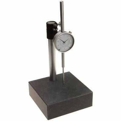 "Granite Check Stand Surface Plate 6x6x2 w/ 2"" Travel Dial Indicator Gauge"