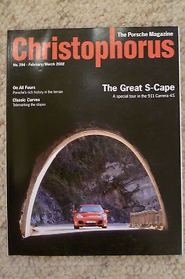 Porsche Christophorus Magazine English #294 February 2002 RARE!! Awesome L@@K