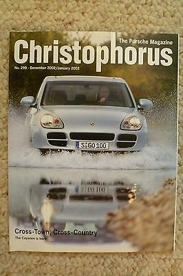 Porsche Christophorus Magazine English #299 December 2002 RARE!! Awesome L@@K