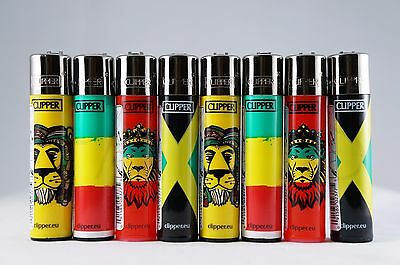 8 pcs New Refillable Clipper Full Size Lighters