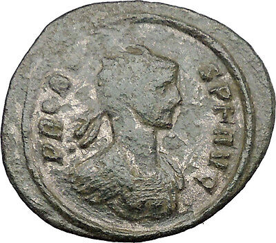 PROBUS 276AD Ancient Silvered Roman Coin Mars Ares Peace bringer God  i32182