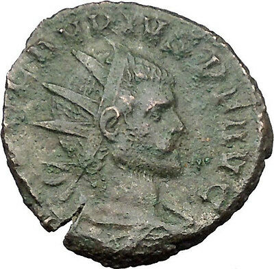 CLAUDIUS II Gothicus 268AD Ancient Roman Coin Fair trade Honest merchant i32186