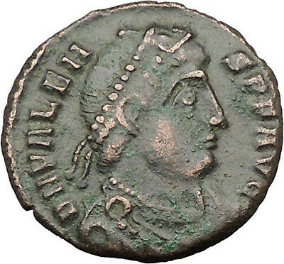 "VALENS ""Last True Roman"" 364AD Ancient Roman Coin Victory Nike Angel  i32190"