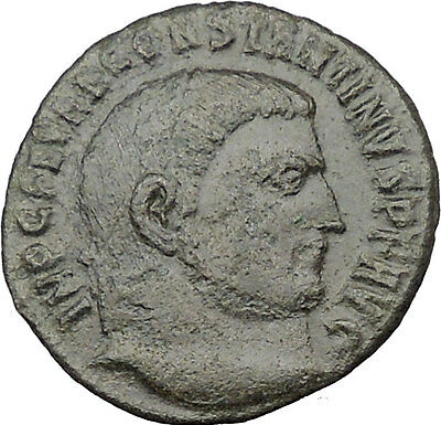 Constantine I The Great 313AD Ancient Roman Coin Jupiter w Victory Nike i32216