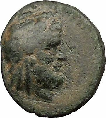 Ancient Greek City 300BC Authentic Ancient Greek Coin Trident  Zeus  i31837
