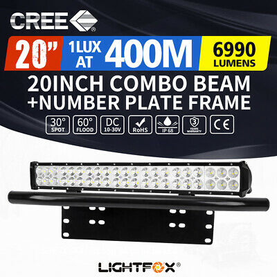2x 20inch 210W LED Light Bar Cree Flood Spot Offroad Work Driving 4WD Truck Ute
