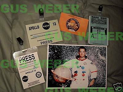 Apollo 13 prop badges press pass id and photo