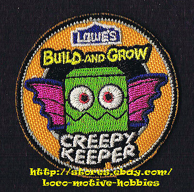 LMH PATCH Badge  2012 CREEPY KEEPER Bat  LOWES Build Grow Kid's Clinic Halloween