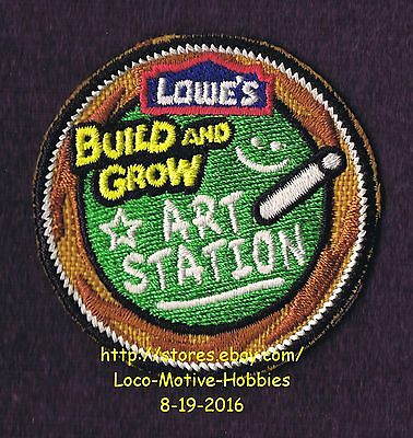 LMH PATCH Badge 2012 ART STATION  Chalk Board LOWES Build Grow Kids Clinic Black