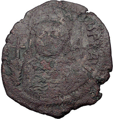 Justinian I  527AD HUGE  Ancient Medieval Byzantine Coin Large M  i32649