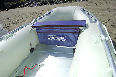 Underseat stoarge bag  with Cushion for inflatable boat -removable bag blue