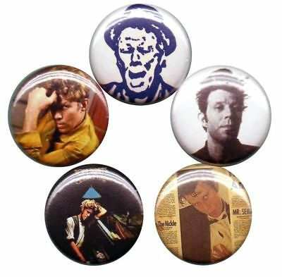 Tom Waits Set of 5 Pins-Buttons-Badges small change asylum