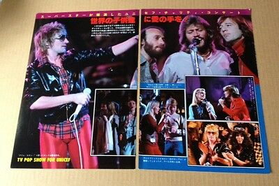 '79 Abba Bee Gees Olivia Newton-John 2pg 4 photo JAPAN mag feat. unicef charity