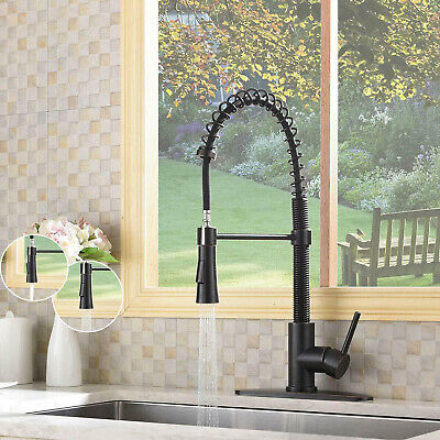 Pull Out Sprayer Kitchen Sink Faucet with Single Handle Swivel Oil Rubbed Bronze